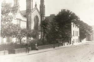 St Andrew's and its former Rectory, more than 100 years ago.
